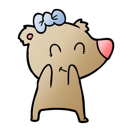 female bear cartoon Archivio Fotografico - 95564938