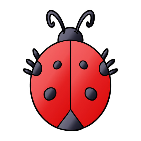Cartoon red ladybug