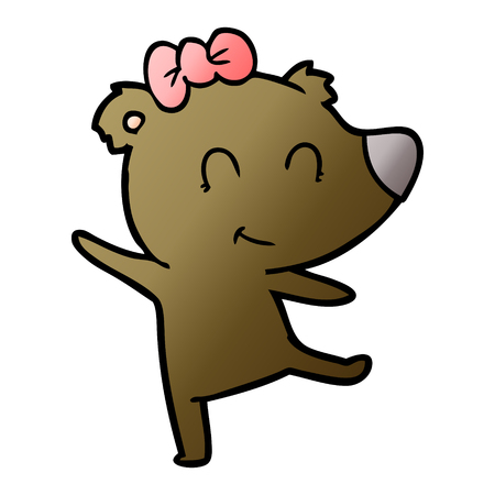 Female bear cartoon Archivio Fotografico - 95567184