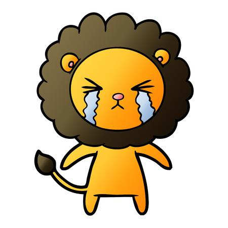 cartoon crying lion Stok Fotoğraf - 95615717