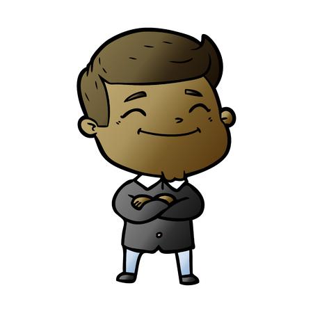 Happy cartoon man