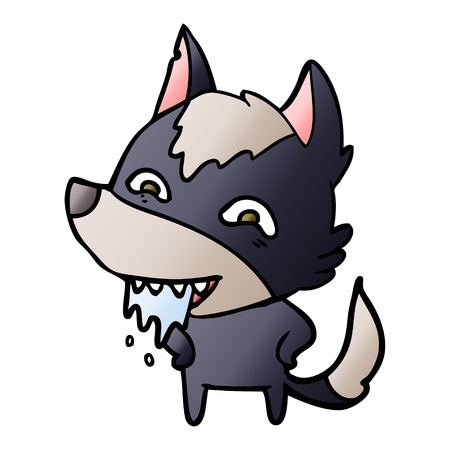 5cartoon hungry wolf