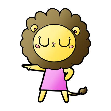 Cartoon pissed lion