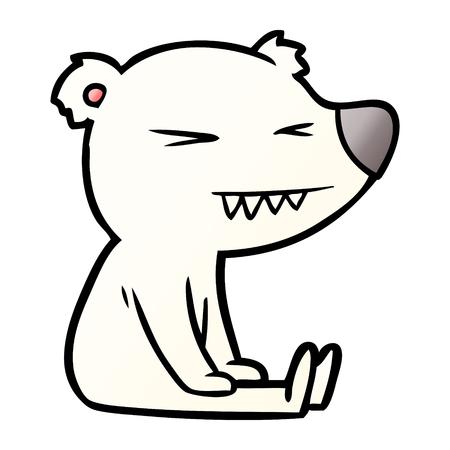 Angry polar bear cartoon Stock Vector - 95568949