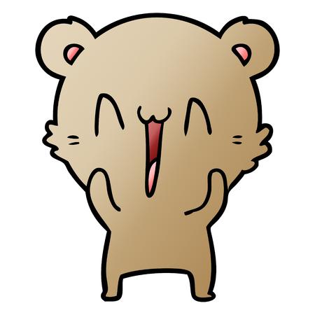 happy bear cartoon 스톡 콘텐츠 - 95616099