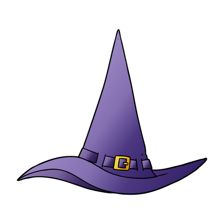 Cartoon witch hat Stock Illustratie