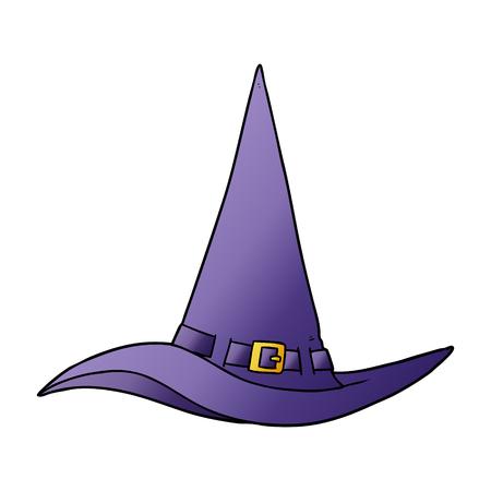 Cartoon witch hat Illustration