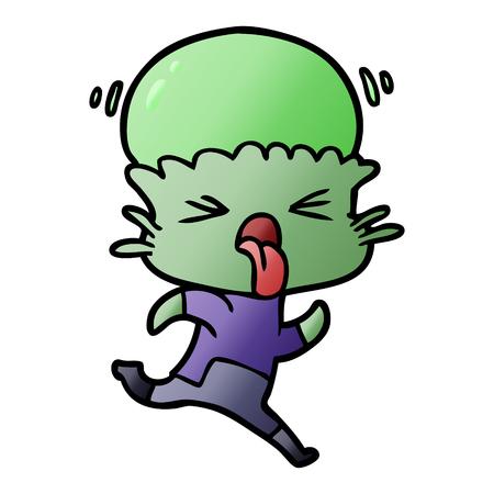 Weird cartoon alien Reklamní fotografie - 95569209