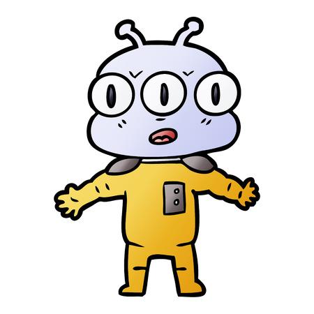 cartoon three eyed alien