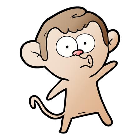 Cartoon surprised monkey