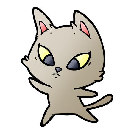 Confused cartoon cat