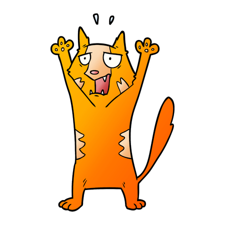Cartoon panicking cat Illustration