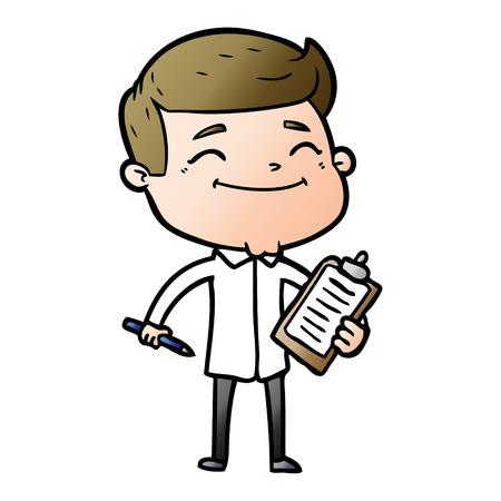 homme heureux dessin animé prenant l'enquête Vecteurs