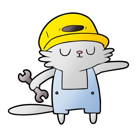 Constructor de gato de dibujos animados Foto de archivo - 95570027