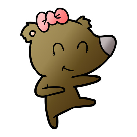 Female bear cartoon Archivio Fotografico - 95570068