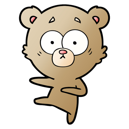 nervous dancing bear cartoon