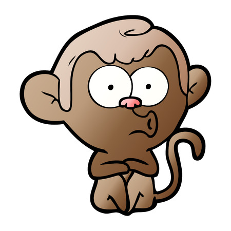cartoon hooting monkey