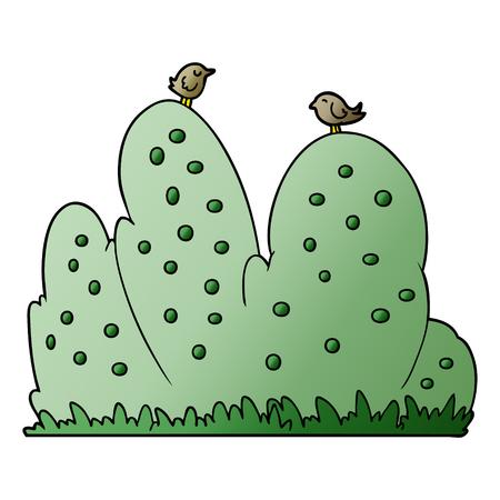 Cartoon hedge Stock Illustratie