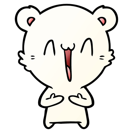 해피 북극곰 만화 스톡 콘텐츠 - 95570479
