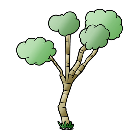 Cartoon sparse tree