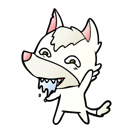 Cartoon hungry wolf 스톡 콘텐츠 - 95570545