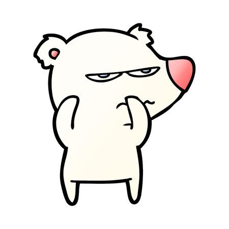 angry bear polar cartoon