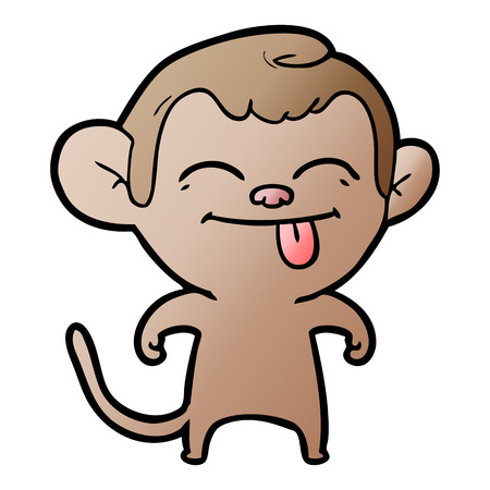 funny cartoon monkey 일러스트