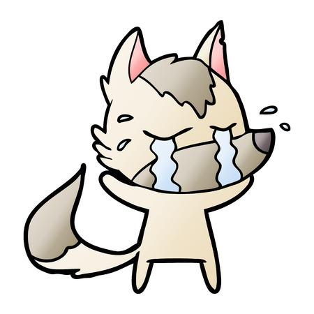 cartoon crying wolf Stock Illustratie
