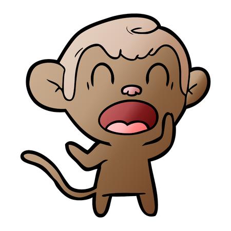 shouting cartoon monkey Illustration