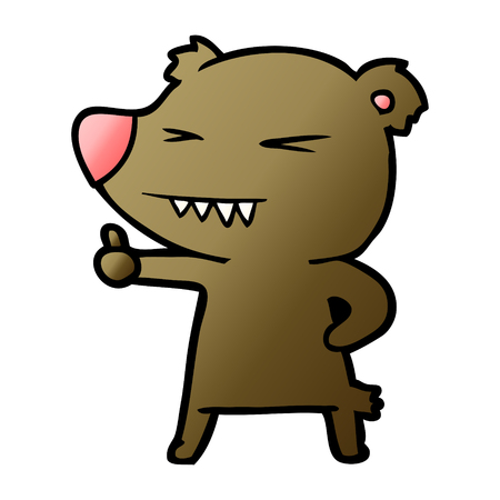 cartoon bear giving thumbs up