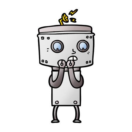 nervous cartoon robot 版權商用圖片 - 95739607