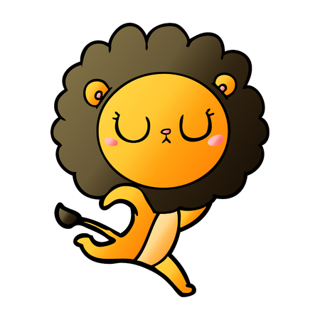 cartoon running lion