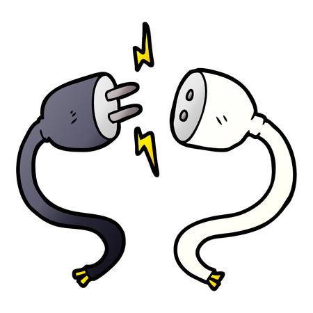 cartoon plug and socket