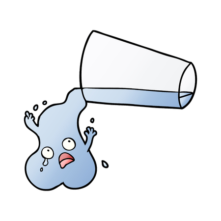 pouring water cartoon 일러스트