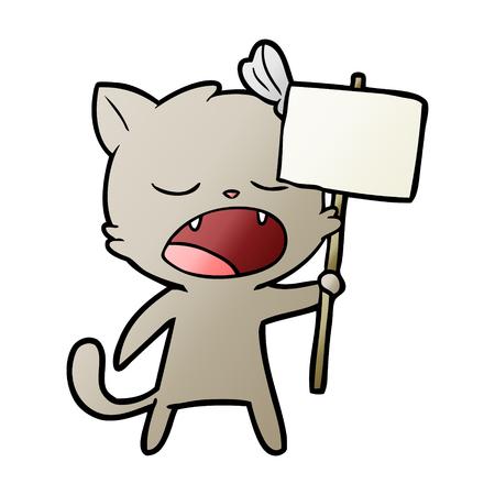 cartoon yawning cat Stock fotó - 95739844