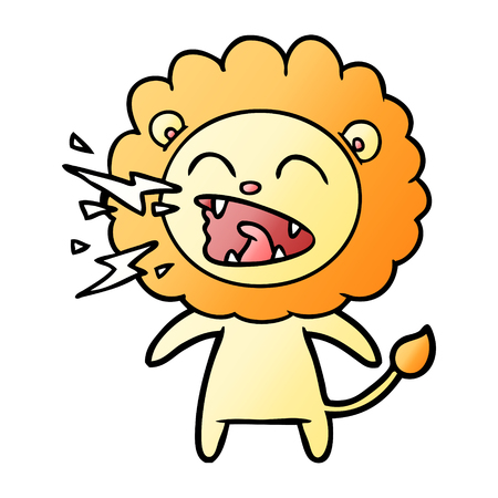 cartoon roaring lion Banque d'images - 95629331