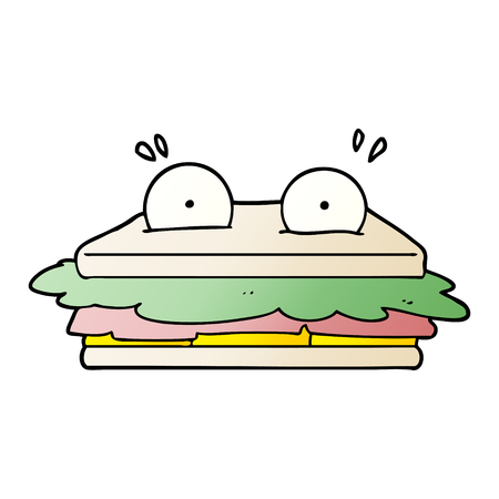 Andwich cartoon character illustration on white background. Foto de archivo - 95527837