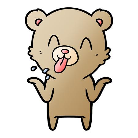 A rude cartoon bear