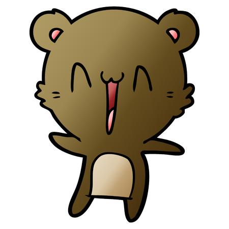 A happy bear cartoon 스톡 콘텐츠 - 95608122