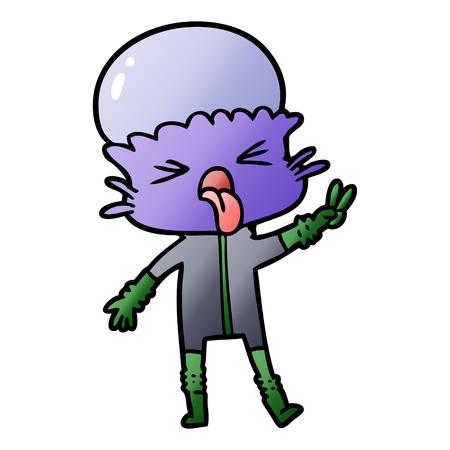 weird cartoon alien