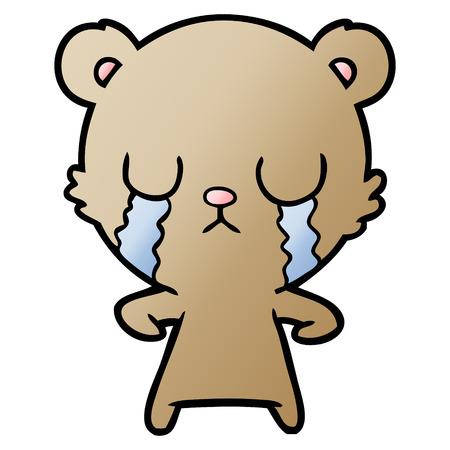 crying cartoon bear Stock Illustratie