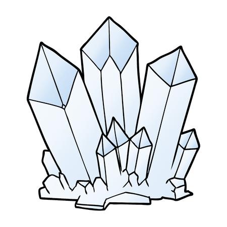 Cartoon crystals illustration on white background.