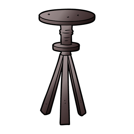 Cartoon stool illustration on white background.