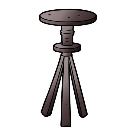 Cartoon stool illustration on white background.