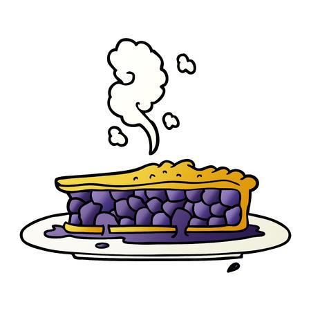 A cartoon blueberry pie