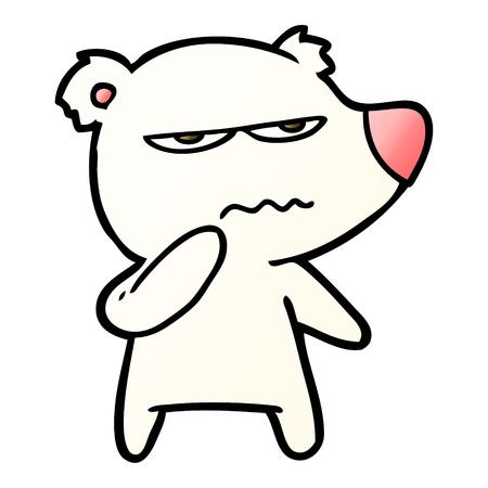 angry bear polar cartoon Vector illustration.