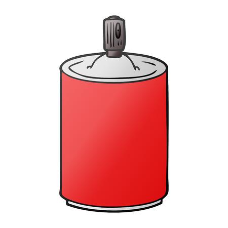 cartoon aerosol spray can