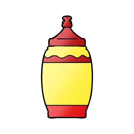 cartoon ketchup bottle