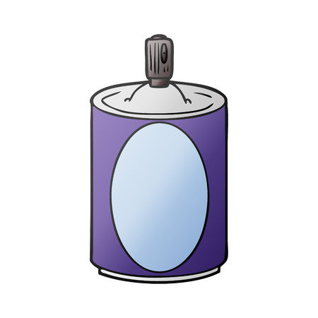cartoon aerosol spray can Vector illustration. Stock Illustratie