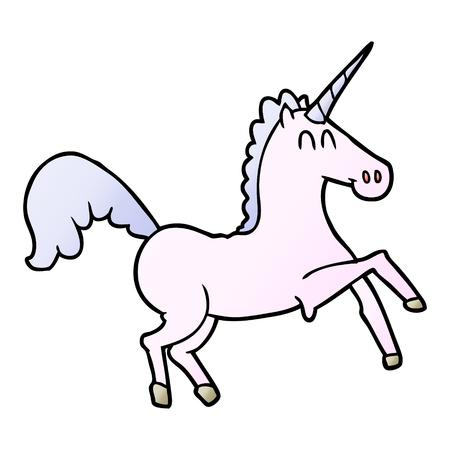 Cartoon unicorn illustration on white background. Ilustrace